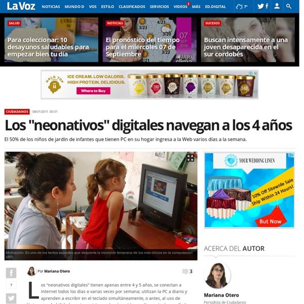 """Los """"neonativos"""" digitales navegan a los 4 años"""