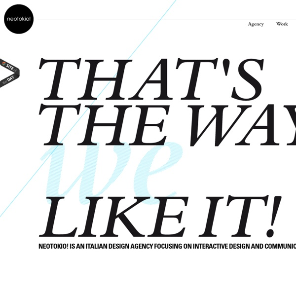 NEOTOKIO! / italian interactive design studio