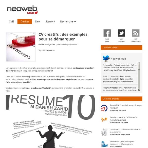 CV créatifs : des exemples pour se démarquer