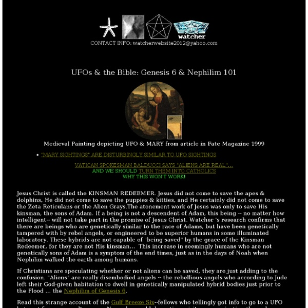 UFOs & the Bible, Genesis 6 & Return of Nephilim, demons ...