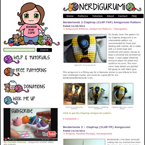 Nerdigurumi - Free Amigurumi Crochet Patterns with love for the Nerdy »