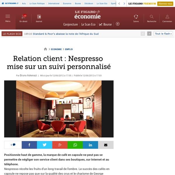 Emploi : Relation client : Nespresso mise sur suivi personnalisé