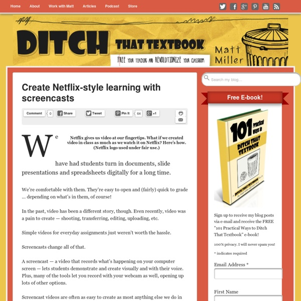 Create Netflix-style learning with screencasts