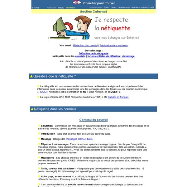 Nétiquette sur Internet / Web