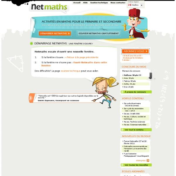 Netmaths 3ième cycle