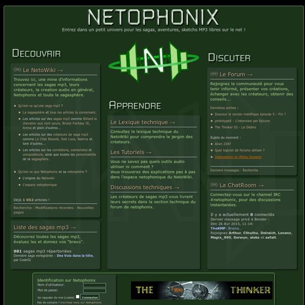 Netophonix - Tout sur les sagas mp3