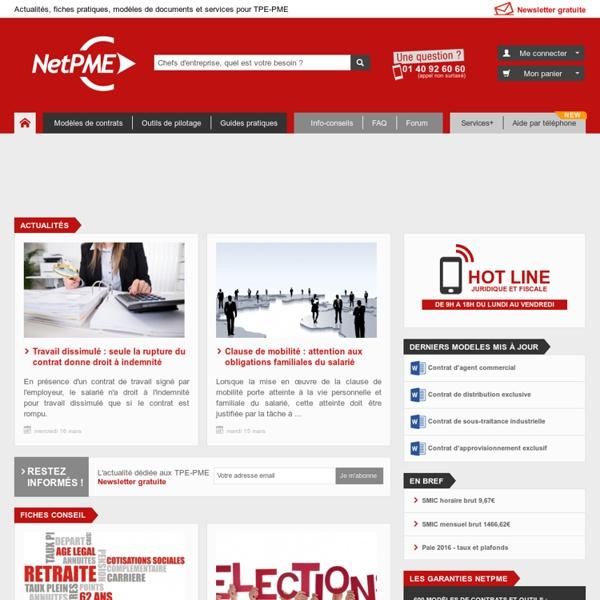 NetPME Ressources pour créateurs et chefs d'entreprise, TPE-PME