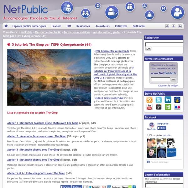 5 tutoriels The Gimp par l'EPN Cyberguérande (44)