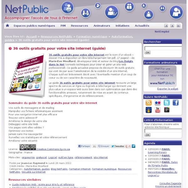 36 outils gratuits pour votre site Internet (guide)