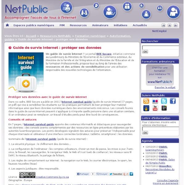 Guide de survie Internet : protéger ses données