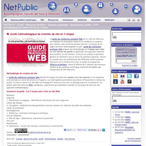 Guide méthodologique de création de site en 5 étapes