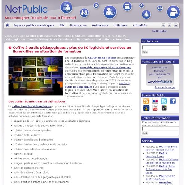 Coffre à outils pédagogiques : plus de 80 logiciels et services en ligne utiles en situation de formation