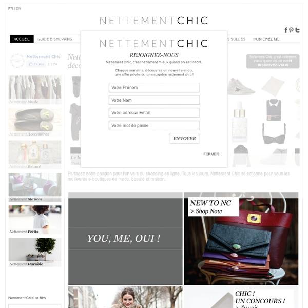 NETTEMENT CHIC - Shopping web - Vêtements, chaussures, mode en ligne