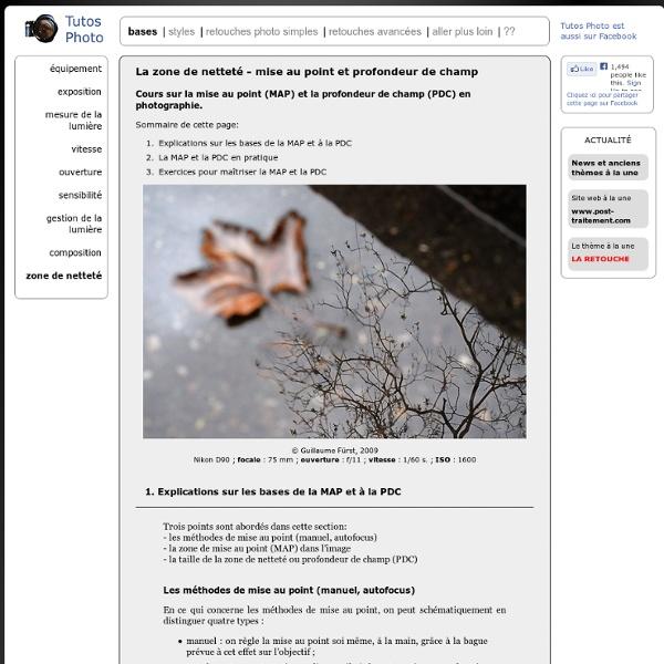 Netteté : mise au point (map), profondeur de champs (pdc) - cours pour apprendre les bases de la photo