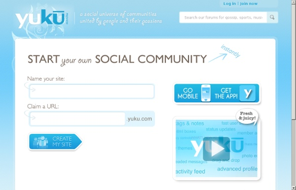 Start your own free forum, social network, social community, or chat room instantly
