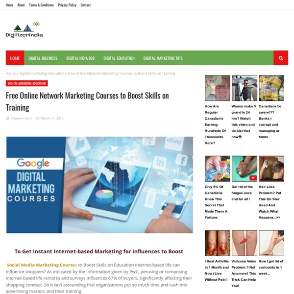 Free Online Network Marketing Courses to Boost Skills on Training