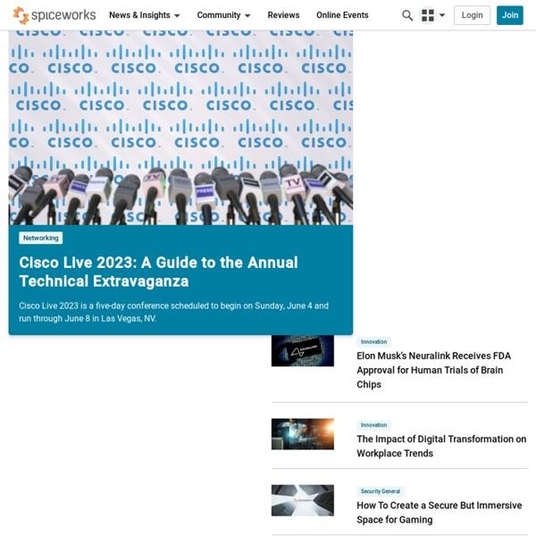 Spiceworks Free Network Management Software
