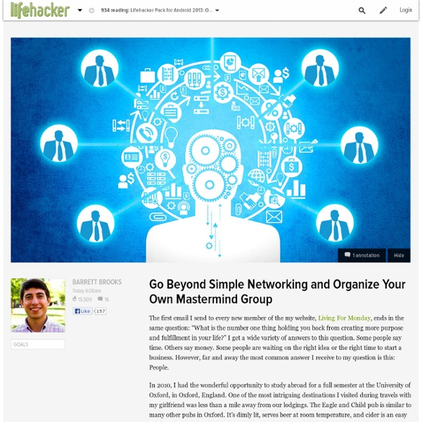 Go Beyond Simple Networking and Organize Your Own Mastermind Group