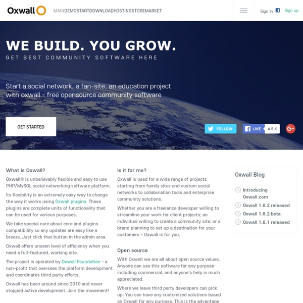 Oxwall - PHP Social Networking Software | Community Script