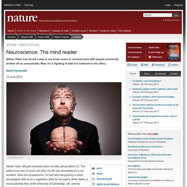 Neuroscience: The mind reader