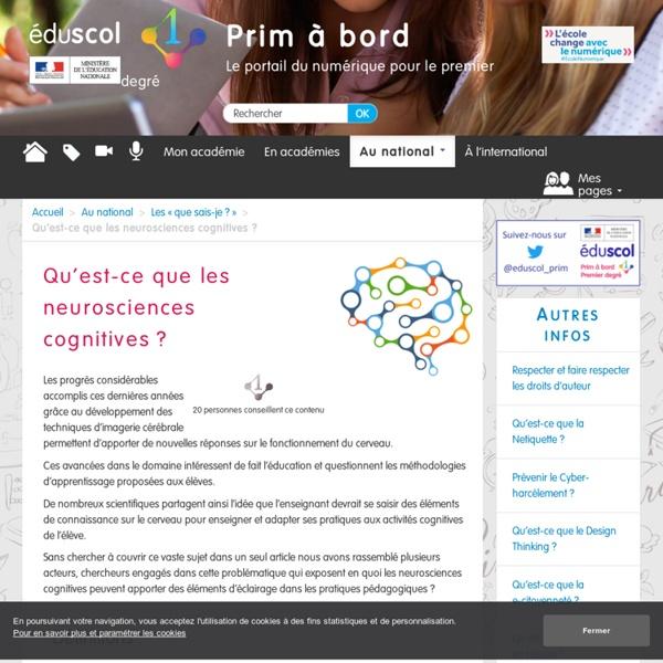 Qu'est-ce que les neurosciences cognitives ? - Prim à bord