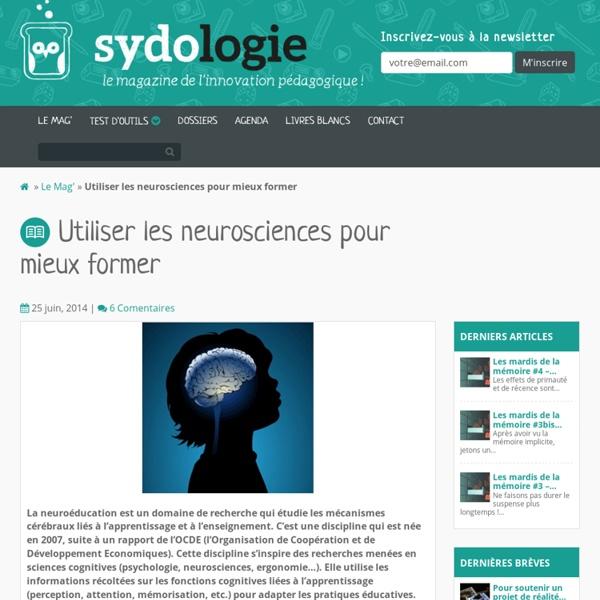 Utiliser les neurosciences pour mieux former
