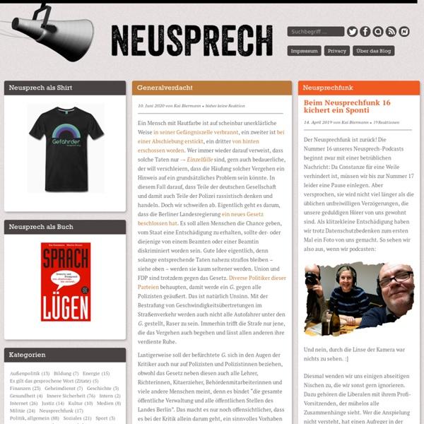 Neusprech.org » Sprache bringt es an den Tag