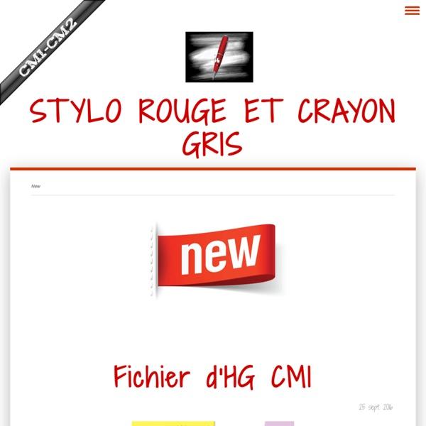 New - Site de stylo-rouge-et-crayon-gris !