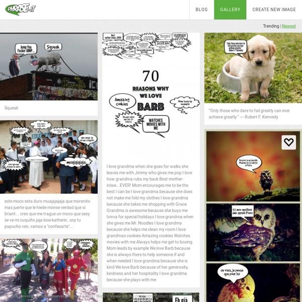 Online Speech Bubble Photo Editor - Create comic strips with phrase.it