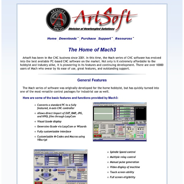 ArtSoft USA - Home of Mach3 and LazyCam