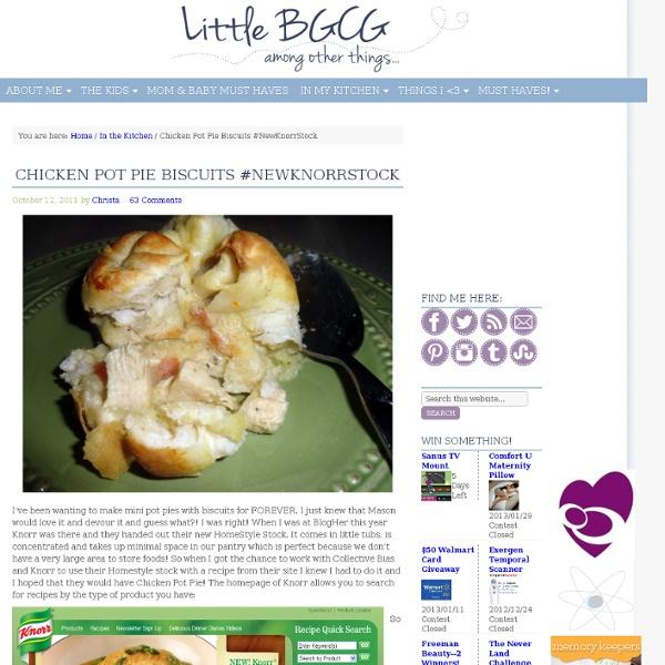 Chicken Pot Pie Biscuits #NewKnorrStock