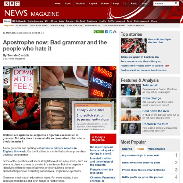 Apostrophe now: Bad grammar and the people who hate it
