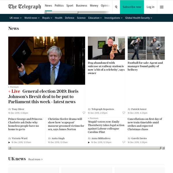 News: Breaking stories & updates