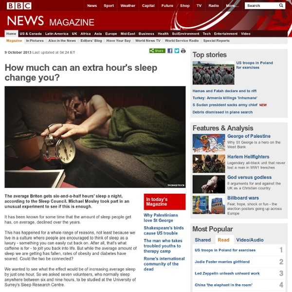 How much can an extra hour's sleep change you?