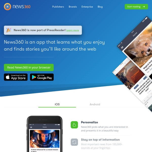 News360: Your personalized news reader app