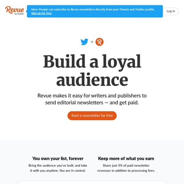 Revue - Get your thoughts into people's inboxes