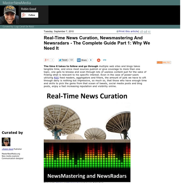 Real-Time News Curation, Newsmastering And Newsradars - The Complete Guide Part 1: Why We Need It