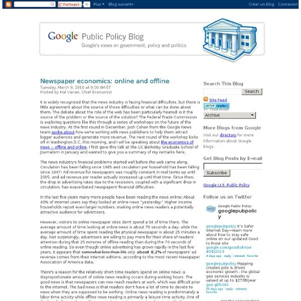 Newspaper economics: online and offline