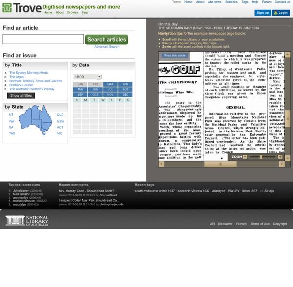 Trove - Digitised Newspapers
