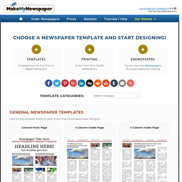 Free Newspaper Templates - Print and Digital