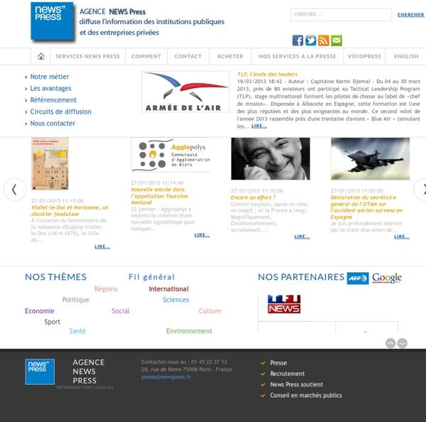 NewsPress - L'actualité publique France-Monde-Régions