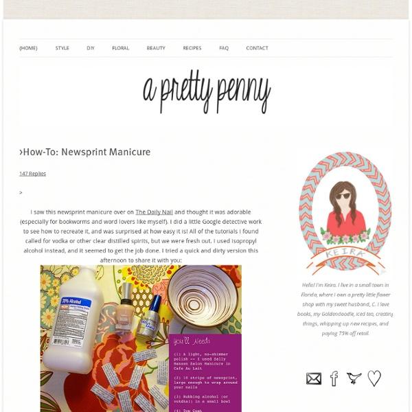 >How-To: Newsprint Manicure