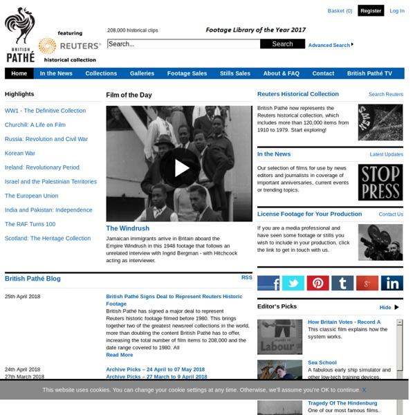 Newsreels, video, archive, film, footage, stills