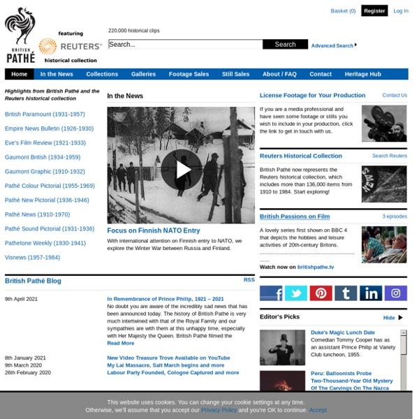 Newsreels, video, archive, film, footage, stills - British Pathé
