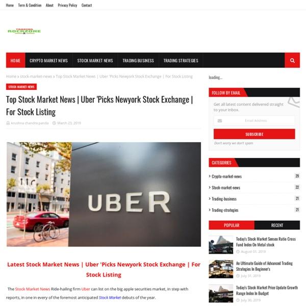 Uber 'Picks Newyork Stock Exchange