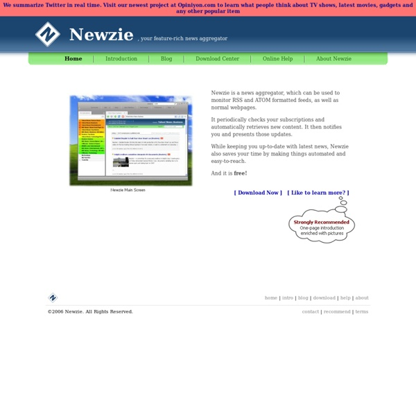 Newzie, Your feature-rich news aggregator -2