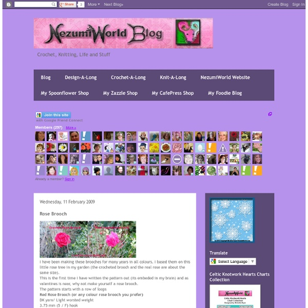 NezumiWorld Blog: Rose Brooch