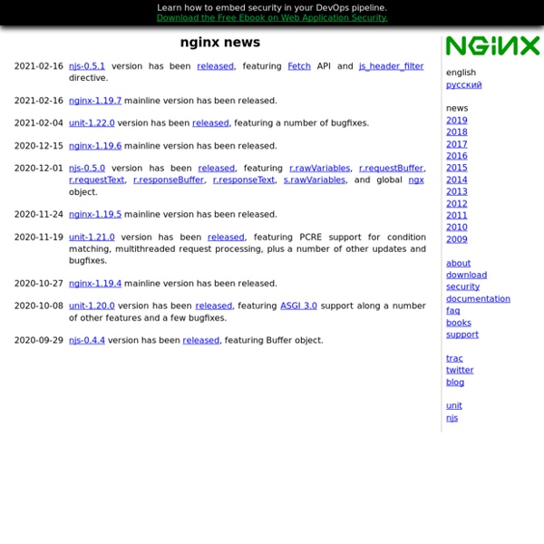 Nginx news