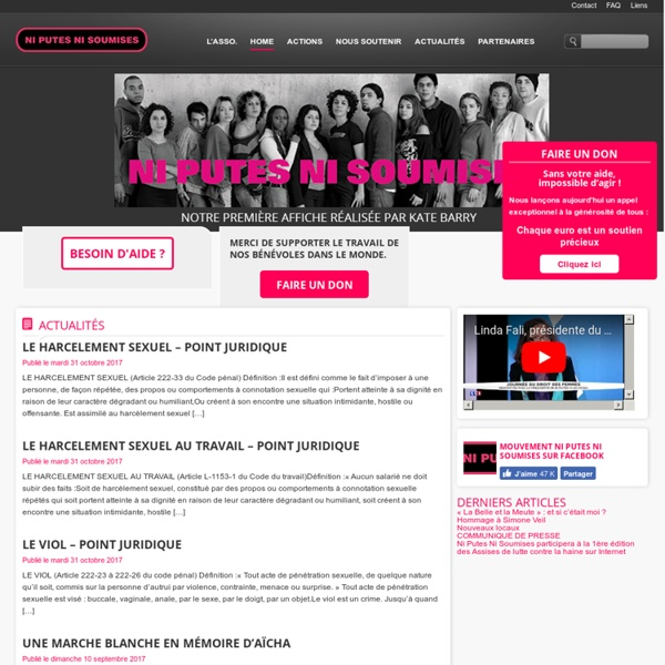 Mouvement Ni Putes Ni Soumises - Le site officiel