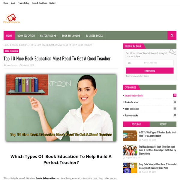 Top 10 Nice Book Education Must Read To Get A Good Teacher